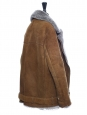 VELOCITE Brown mock felted shearling jacket Retail price €2000 Size 36