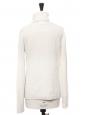 Snow white angora and wool turtleneck sweater Size 38/40