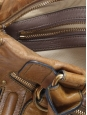 BAY camel brown leather tote handbag Retail Price 1200€