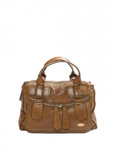 Grand sac tote Bay en cuir marron camel Px boutique 1200€