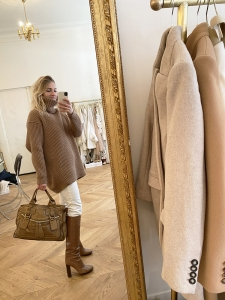 BAY camel brown leather tote handbag Retail Price 1200€