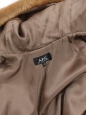 Camel brown faux fur hooded coat Retail price €500 Size XS