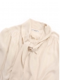 Chemise manches longues lavallière en soie blanc crème Taille 36 à 38