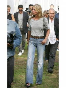 Kate Moss iconic blue used wide leg jeans Retail price €390 Size 40
