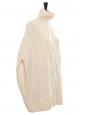 Cream white Irish knit wool sleeveless poncho sweater Retail price €1500