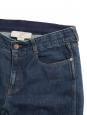 High waist skinny boyfriend dark blue jeans Retail price €370 Size 29