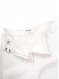 High waist straight leg white crepe pants Retail price €2500 Size 36