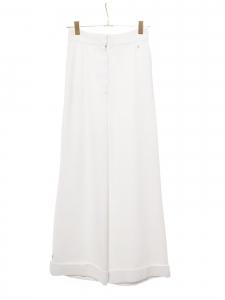 Pantalon taille haute évasé en crêpe blanc Prix boutique 2500€ Taille 36