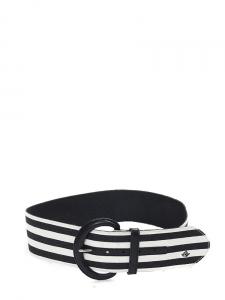 Ceinture large rayée noir et blanc et boucle en cuir Px boutique 450€ Taille S/M