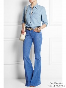 Light blue high-rise flared jeans Retail price €275 Size XS/S