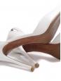 ALHAMBRA pointy toe stiletto heel ankle strap white leather pumps Retail price $695 Size 37.5