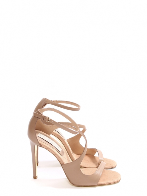 Nude eco-friendly faux leather heeled sandals Retail price €660 Size 38.5