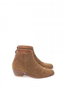 Bottines TELMA à petits talons en daim marron camel Prix boutique 255€ Taille 39/40