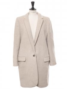 Manteau veste BRYCE en laine mélangée beige Prix boutique 1095€ Taille 36