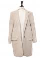 BRYCE beige melton wool-blend felt coat Retail price €1095 Size 36