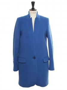 BRYCE Klein blue melton wool blend coat Retail price €1095 Size 36