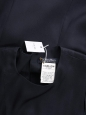 Sleeveless long dress in midnight blue crepe Retail Price €345