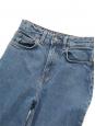 High waist flared mid blue jeans Size XXS