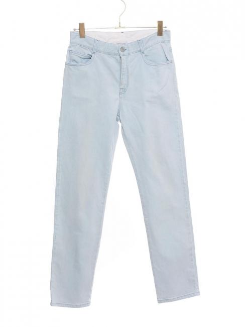 Jean boyfriend skinny taille mi-haute bleu clair Prix boutique 370€ Taille 26