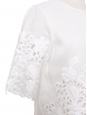 HARPER short sleeves white floral lace ramie dress Size Xs