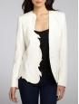 Swan white asymmetric cut blazer jacket Retail price €1100 Size 36