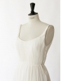 JADE white silk chiffon gown with pleated bodice and open back Retail price €4800 Size 34