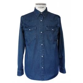 Navy blue denim men's shirt NEW Retail price €180 Size 38