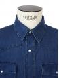 Dark blue denim men's shirt NEW Retail price 180€ Size M