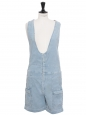 Light blue corduroy playsuit with large straps Size 36