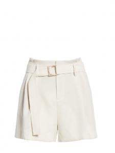 Short taille haute à pinces avec ceinture en pampa ivoire Prix boutique 195$ Taille 38