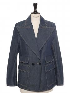 Veste blazer en jean bleu brut NEUVE Prix boutique 1500€ Taille 38 à 40