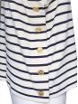 Cream and dark blue striped sailor tank top Size L