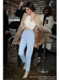 Baby blue tailored pleated pants Retail price €450 Size XS