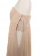Citrus yellow silk chiffon strapless maxi dress Retail price € 750Size 38