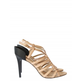 Sandales à talon Ruanda en cuir nude Neuves Taille 39,5
