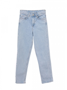 Jean bleu clair taille haute boyfriend slim Taille XXS