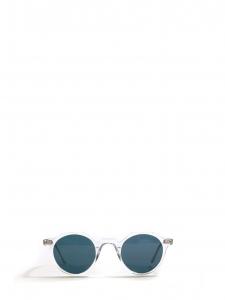 Lunettes de soleil HERI monture biseau crystal verres minéraux bleus NEUVES Prix boutique 350€