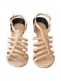 Sandales à talon Ruanda en cuir nude Neuves Taille 39