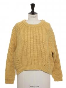 Pull HIRA en grosse maille de laine miel Prix boutique $700 Taille 36