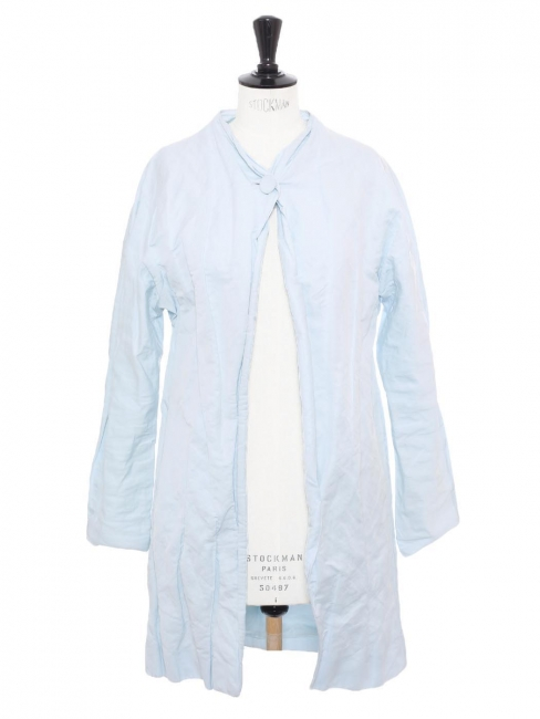 Pale blue mid-length spring summer jacket Retail price €250 Size 36