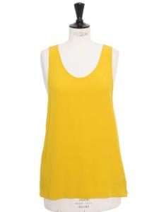 Débardeur ICONIC en crêpe de soie jaune étincelant Px boutique 390€ NEUF Taille 36