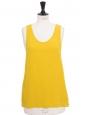 ICONIC Yellow bright silk crepe tank top Retail price €390 Size 36