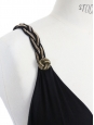 Robe décolleté et dos nu en coton et soie noire Taille 36