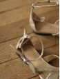Mike gold silver leather knotted bow flat sandals Retail price €540 Size 37