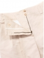Powder pink raw silk high waisted shorts NEW Retail price €550 Size 40
