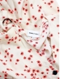 Red and white floral print buttoned midi dress Size S