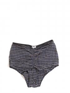 Culotte de maillot de bain taille haute imprimé carreaux Taille 36