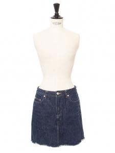 Dark blue denim mini skirt Retail price €140 Size 34