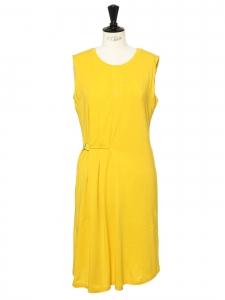 Bright sunny yellow jersey sleeveless dress Retail price €120 Size L