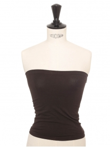 Fatal strapless seamless chocolate brown top Retail price €70 Size XS/S